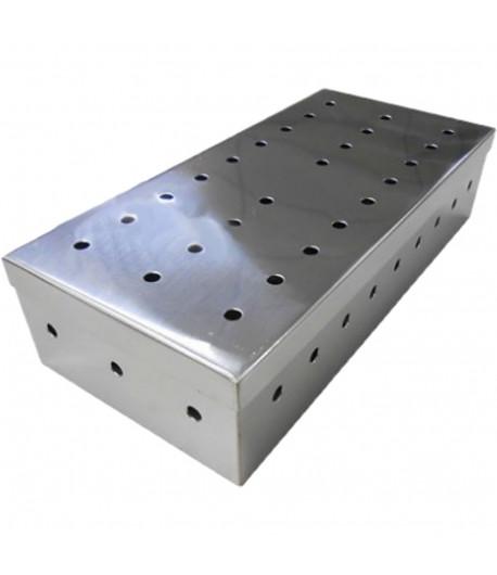Estojo em Aço Inox Perfurado 20x10x5cm - AÇONOX