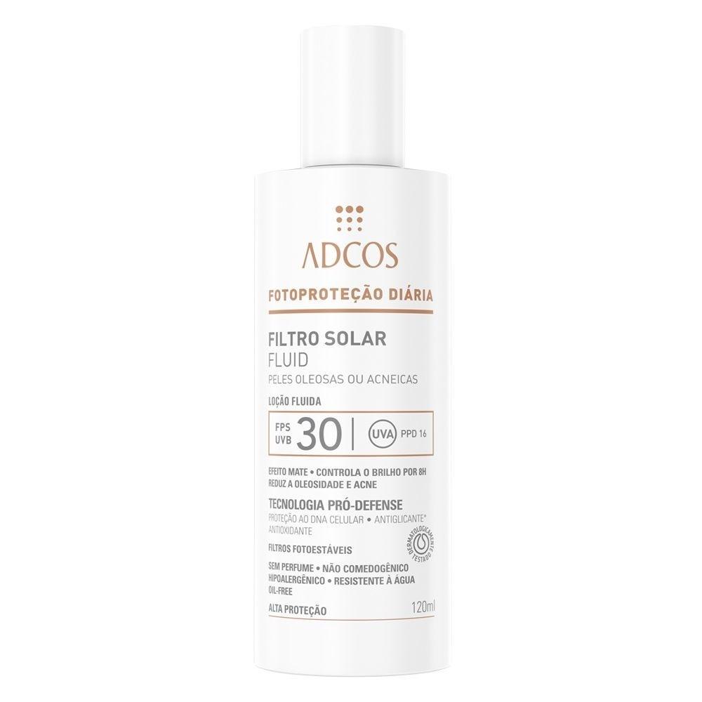 Filtro Solar FPS 30 Fluid Peles Oleosas e Acneicas 120 ml - Adcos