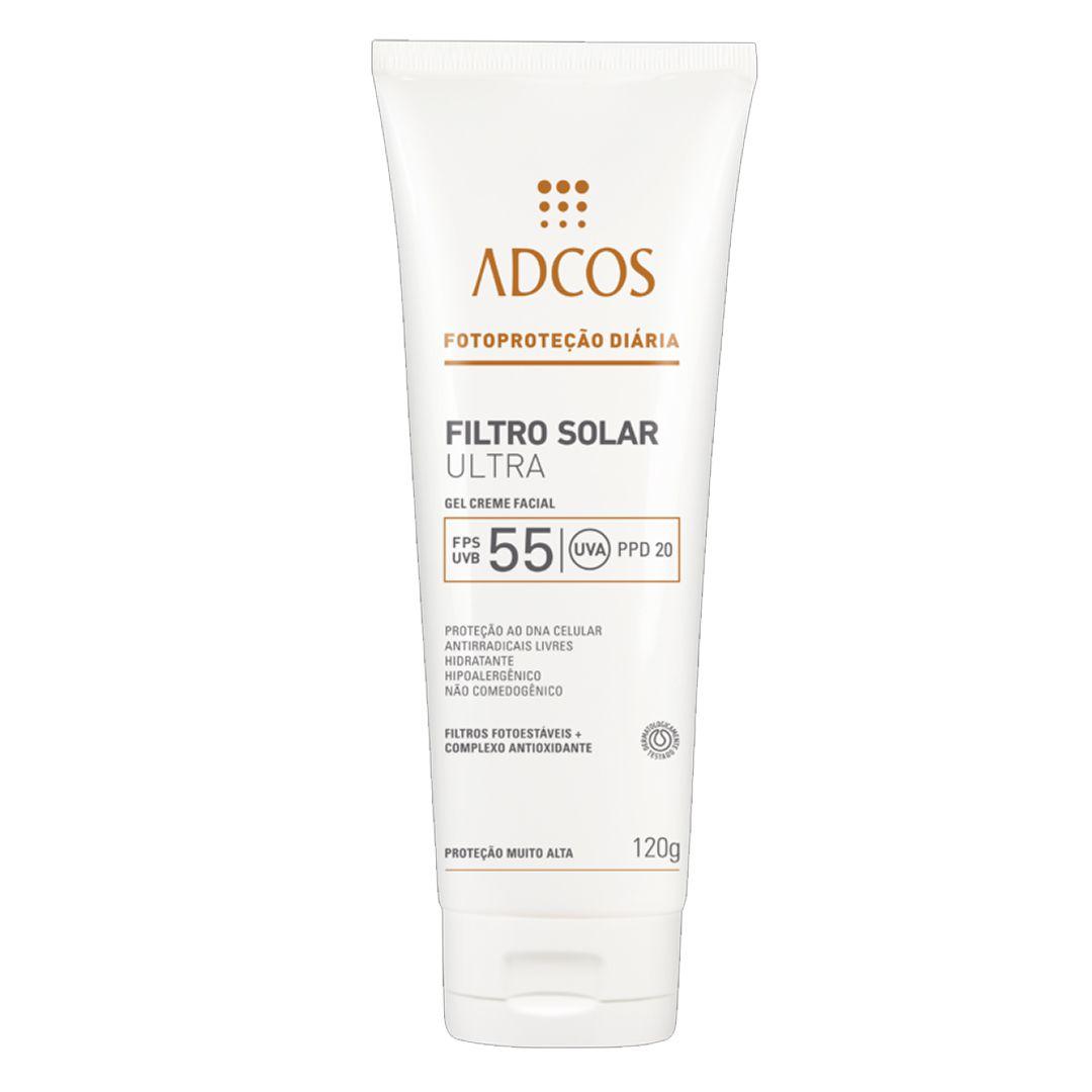 Filtro Solar Ultra FPS 55 Gel Creme 120g - Adcos