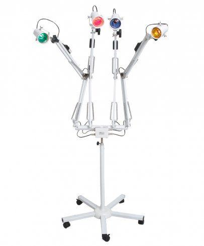 Luminária de luz colorida 4 Braços - Cromoterapia - Estek