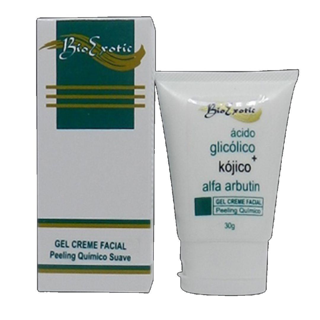 Gel Creme Facial com Ácido Kójico + Alfa Arbutin + Ácido Glicólico- Bio exotic