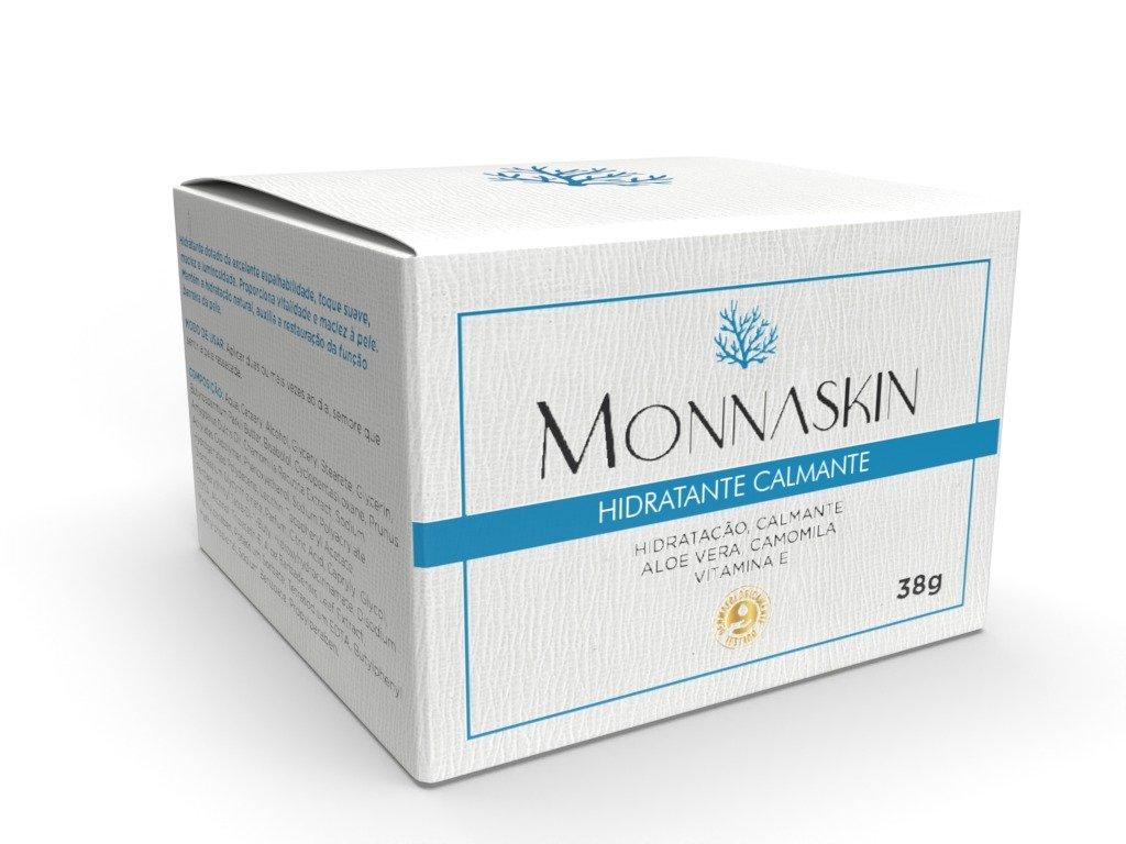 Creme Hidratante Calmante 38g - Linha Home Care Monnaskin