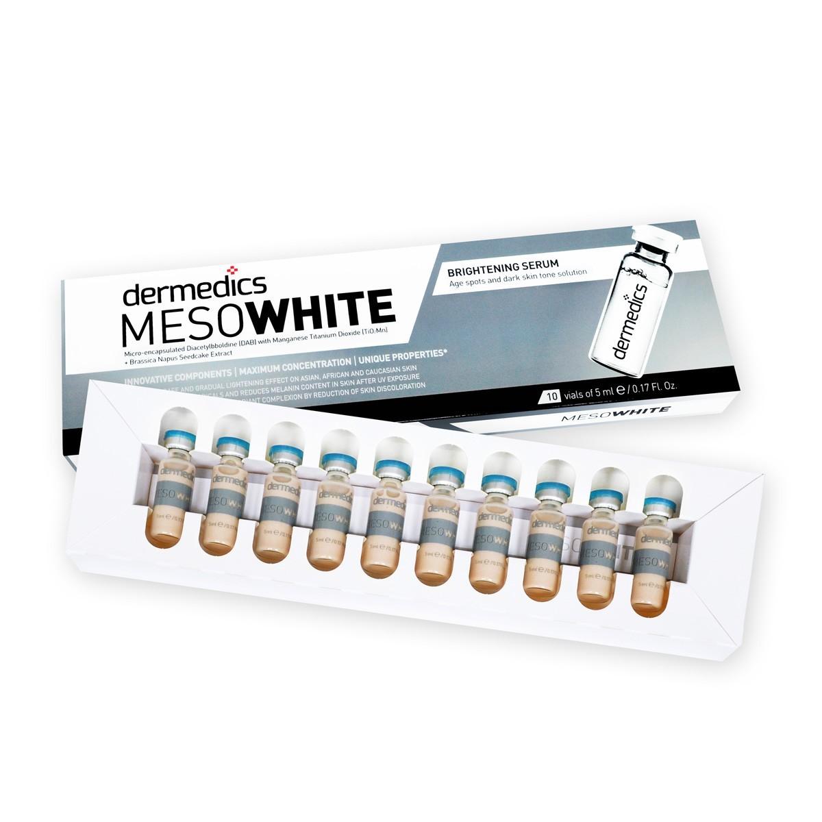 Kit BB Glow 10 Ampolas Meso White Pele Porcelana - Dermedics