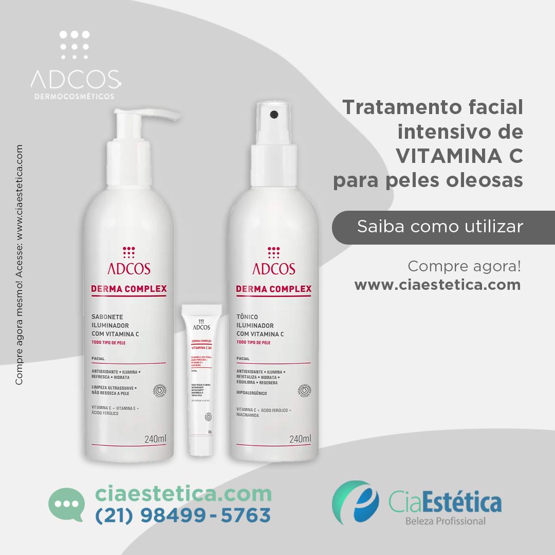 Kit Tratamento Facial Intensivo de Vitamina C para Peles Oleosas - Adcos
