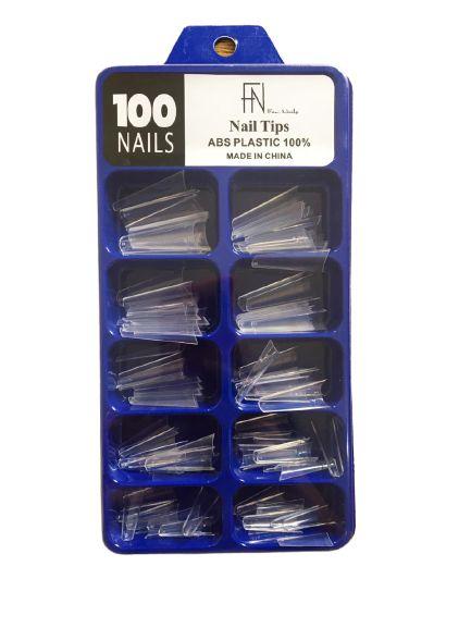 Kit Unhas de Plástico com 100 unidades - FAN Nails