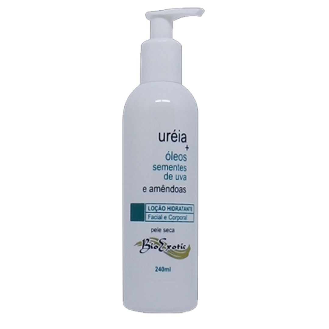 Loção Hidratante com Uréia , Óleo Sementes de Uva e Amêndoas 240ml Bioexotic