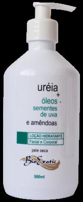 Loção Hidratante com Uréia , Óleo Sementes de Uva e Amêndoas 500ml - Bioexotic