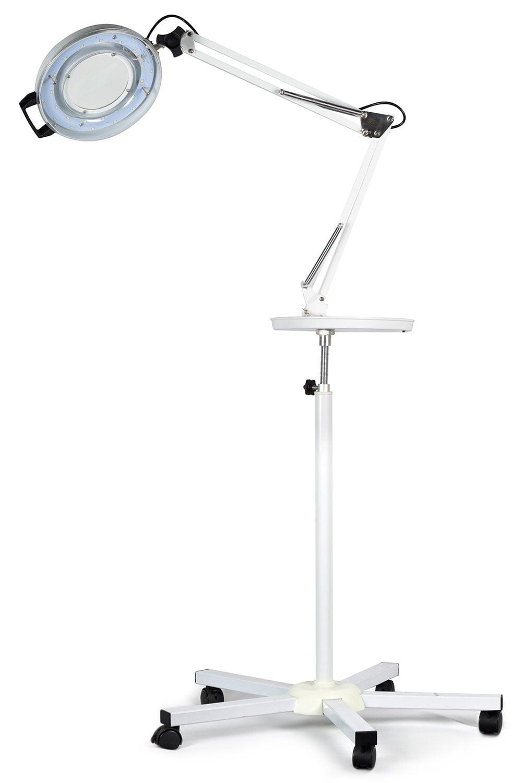 Lupa de Aumento com Luminária de LED, Bandeja e Tripé - Estek