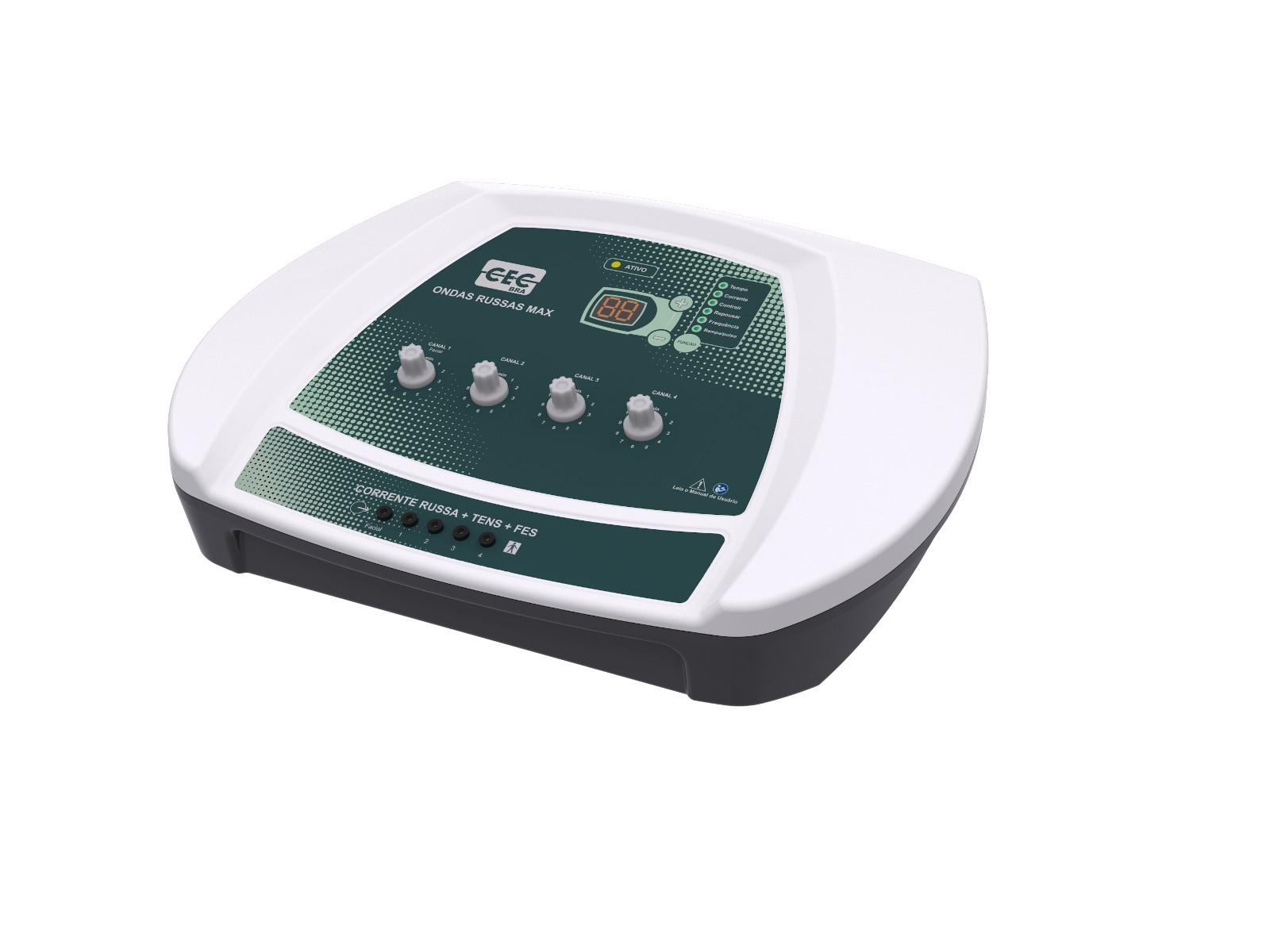 ONDAS RUSSAS MAX - Eletroestimulador 4 Canais + Facial - CECBRA