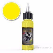 Tinta Iron Works para Tatuagem - Amarelo claro