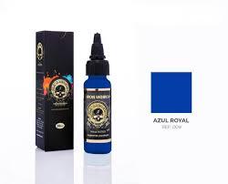 Tinta Iron Works para Tatuagem - Azul Royal