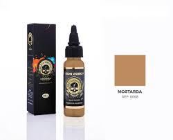 Tinta Iron Works para Tatuagem -Mostarda