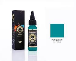 Tinta Iron Works para Tatuagem - Turquesa