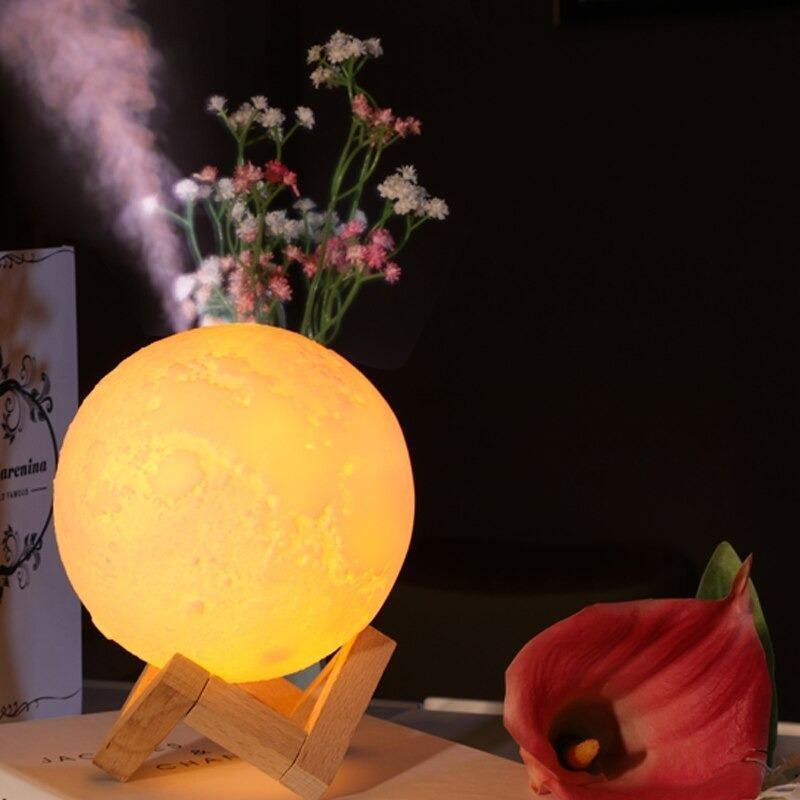 Umidificador Luminária Lua Média - Moon Lamp
