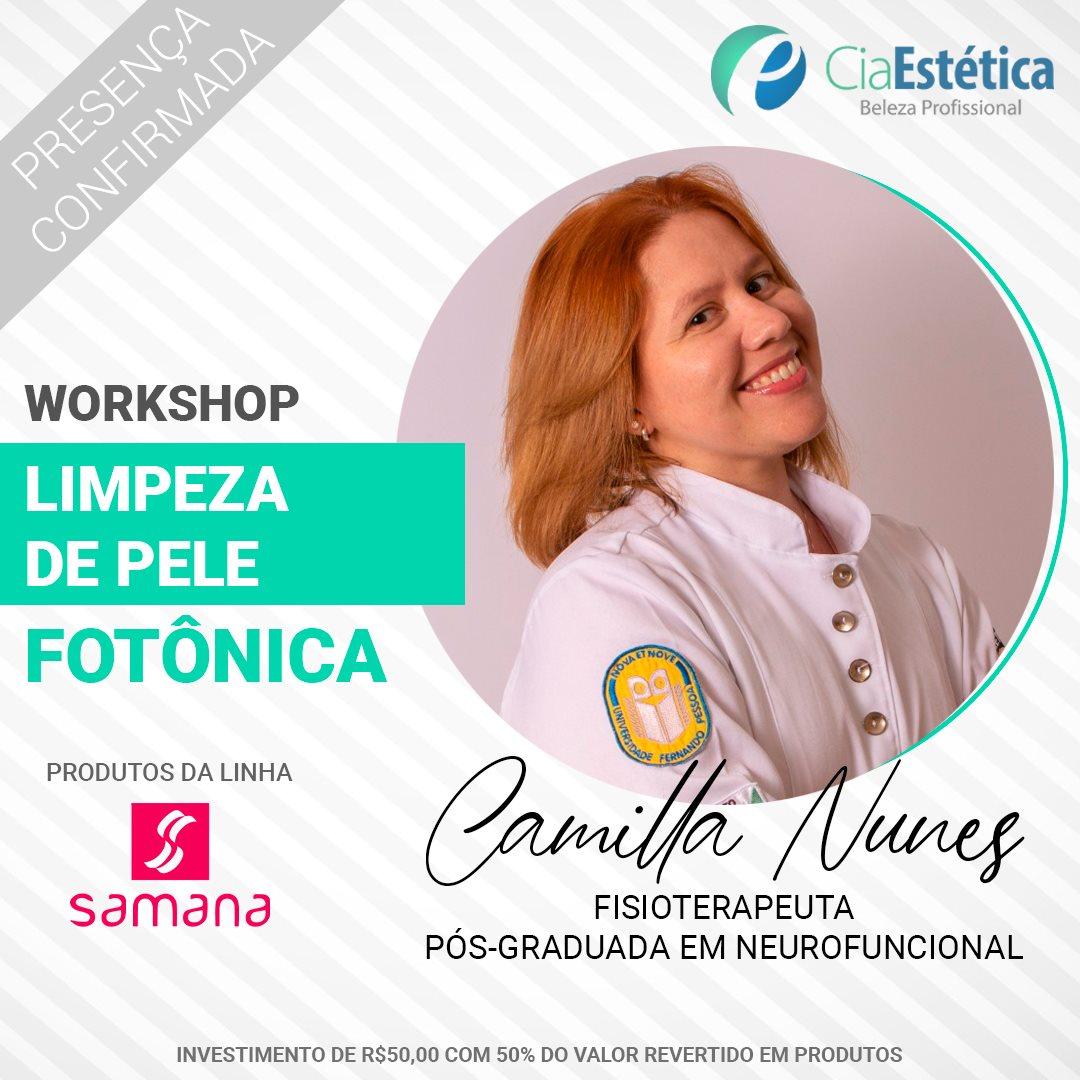 Workshop Limpeza de Pele Fotônica