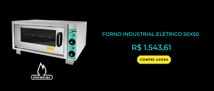 Forno Industrial Elétrico 50x50 - Metalmaq