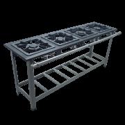 Fogão Industrial 4 bocas 40x40 Queimadores simples e duplos Metalmaq