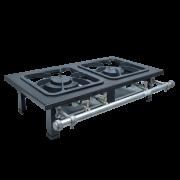 Fogão Industrial de Mesa 2 bocas 30X30 S2000 Metalmaq