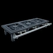 Fogão Industrial de mesa 3 bocas 30X30 Metalmaq