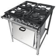 Fogão Industrial 4 bocas com forno 30X30 Metalmaq | Temperare