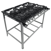 Fogão Industrial 6 bocas grelhas 30X30 S2020 Metalmaq