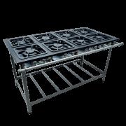 Fogão Industrial 8 bocas grelhas 30X30 S2000 Metalmaq