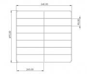 Grade para Forno Industrial Guilhotina 70x60