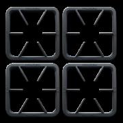 Kit com 4 Grelhas em ferro fundido 30X30 S2000 Metalmaq