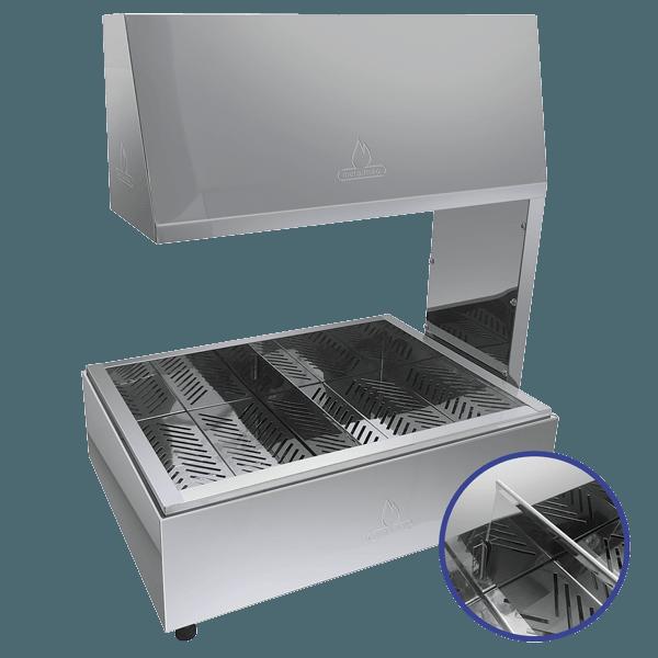 Conservador de Fritura 2 Lâmpadas 500w Aço Inox Metalmaq