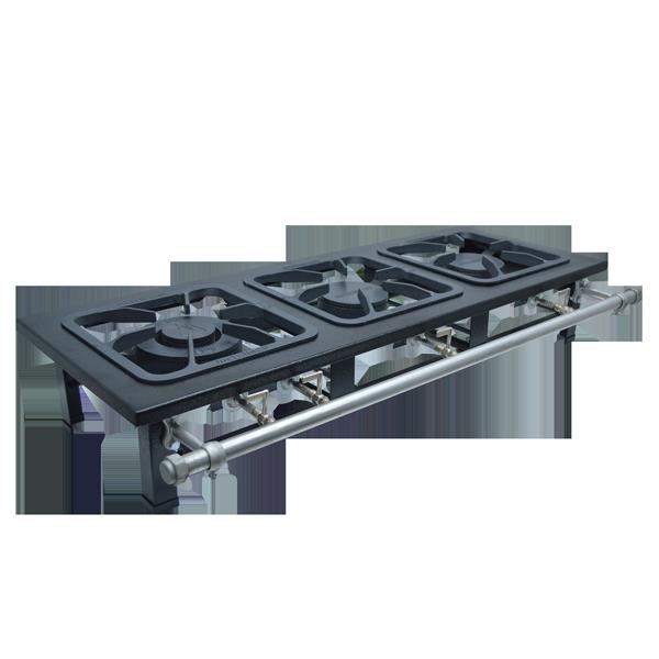 Fogão Industrial de Mesa 3 bocas 30X30 S2000 Metalmaq