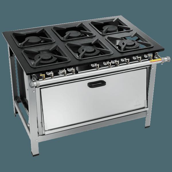 Fogão Industrial 6 bocas com super forno 30X30 Metalmaq | Temperare