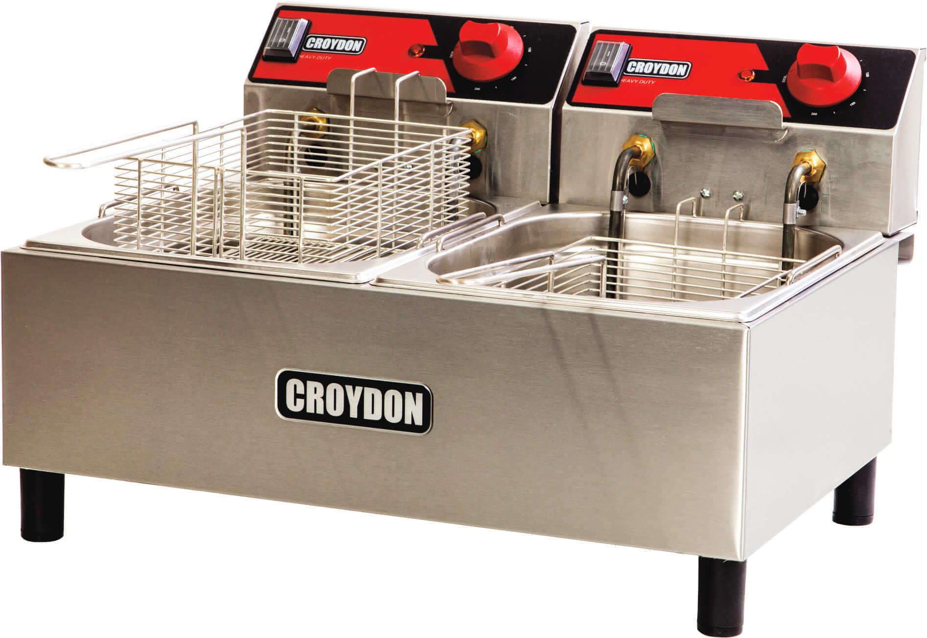 Fritadeira Elétrica Dupla  2x 4,5 Litros FC2B Croydon