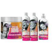 kit especial soul power bomb cachos 4 produtos
