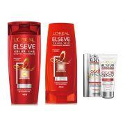 Kit loreal elseve color vive shampoo e condicionador 400 ml e cicatr renov 50 ml