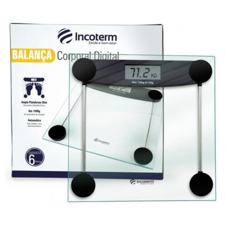 Balança digital corporal banheiro incoterm ultra slim Pop