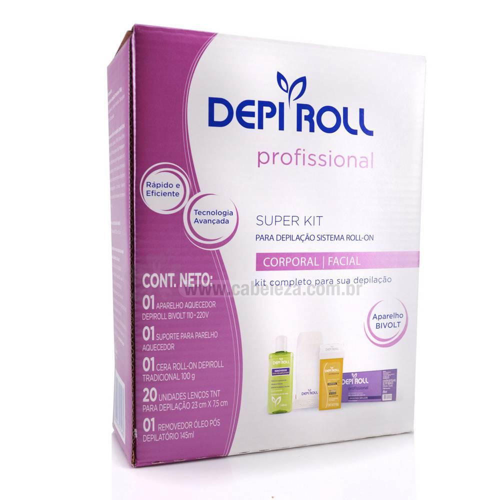 Depi Roll Kit Para Depilação Roll-On Bivolt