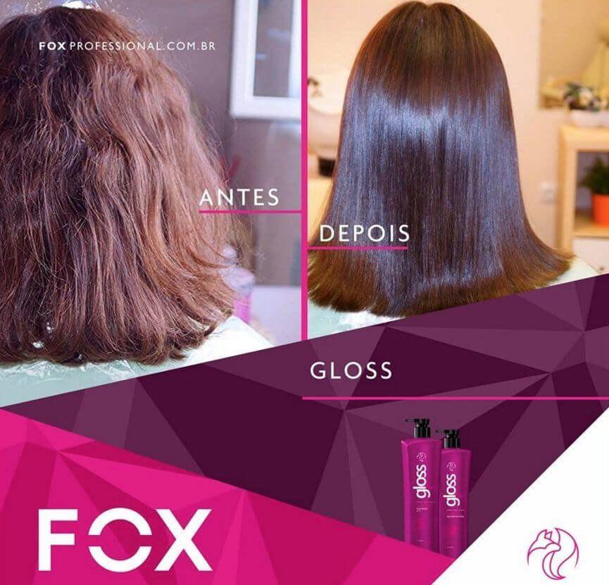 Fox Gloss kit Escova Progressiva Inteligente - Plástica dos Fios 2x1L