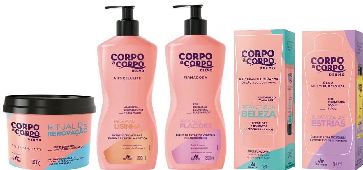 Kit Corpo a Corpo dermo Davene Com 5 produtos