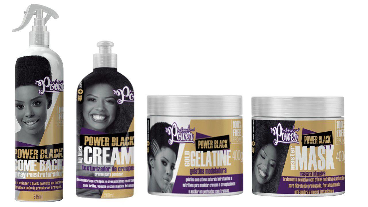 Kit soul power black crespos 4 produtos