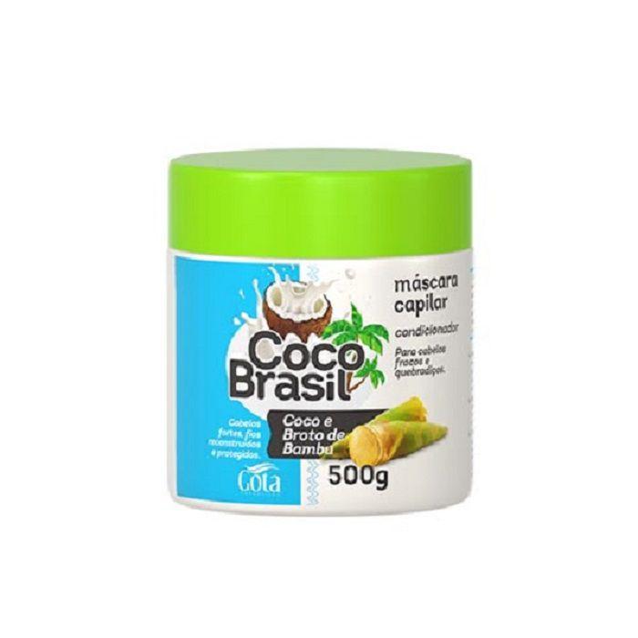 Mascara capilar coco Brasil coco e broto de Bambu Gota cosméticos 500 g
