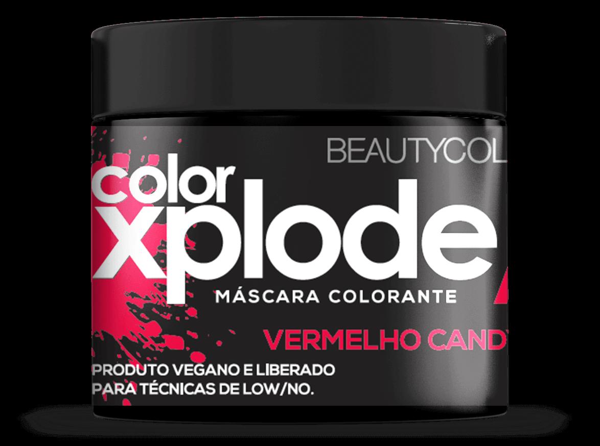 Mascara Color Xplode Vermelho Candy Bomb Beautycolor 300 Gr
