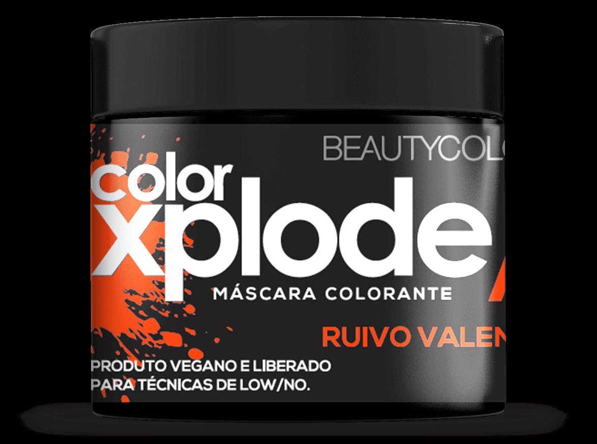 Mascara Colorante Xplode Ruivo Valente Beautycolor 300 Gr