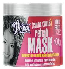 Mascara de reabilitação instantânea capilar color curls rehab mask soul power 400 gr