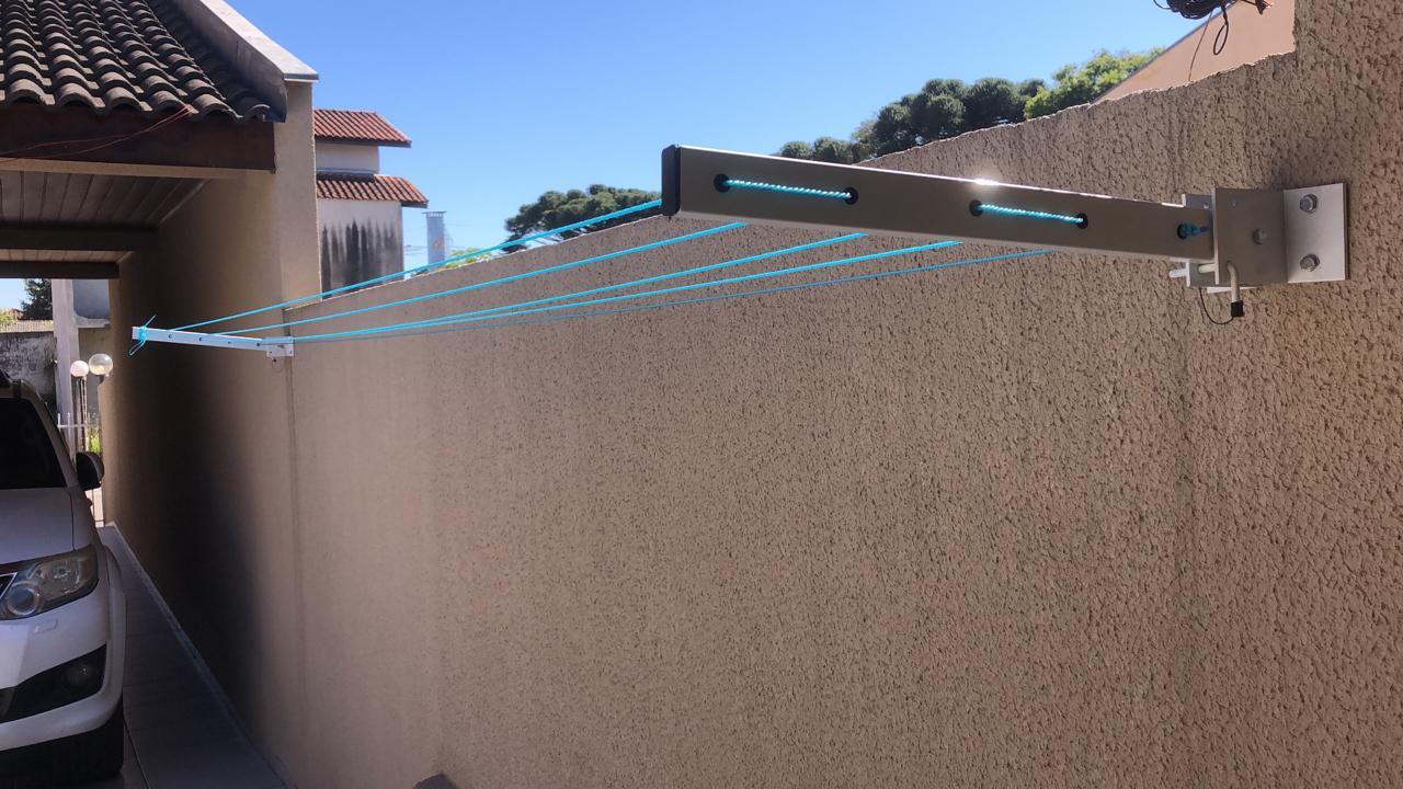 Varal Articulável Dobrável Recolhível De Parede E Muro Dws