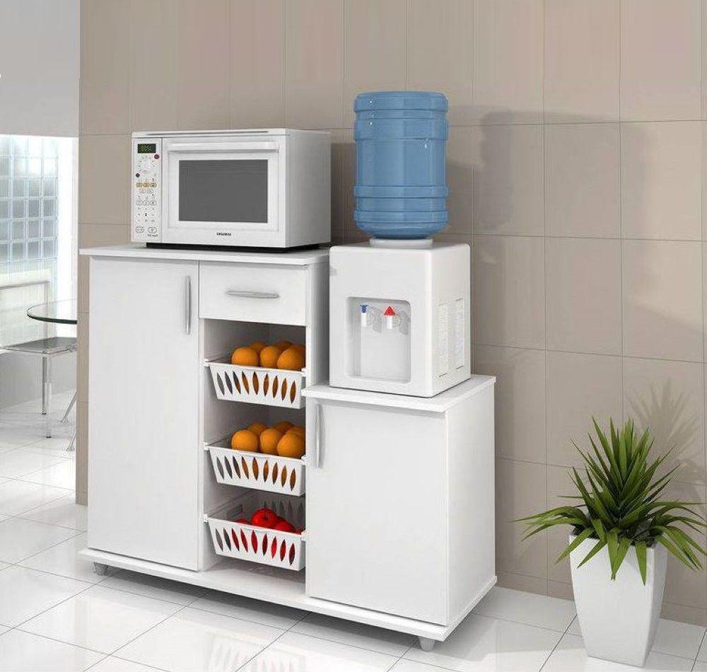 Armário Cozinha 310 Branco com Fruteira Benetil