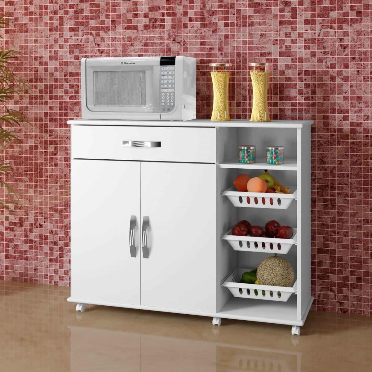 Armário Cozinha com Fruteira Salinas Arte Móveis
