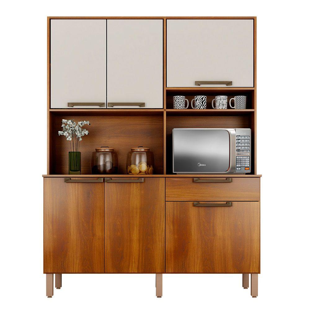 Armário de Cozinha 6 Portas, 1 Gaveta Siena - Sallêto Móveis