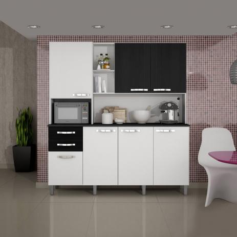 Armário de Cozinha 7 Portas, 2 Gavetas Diamante - Sallêto Móveis