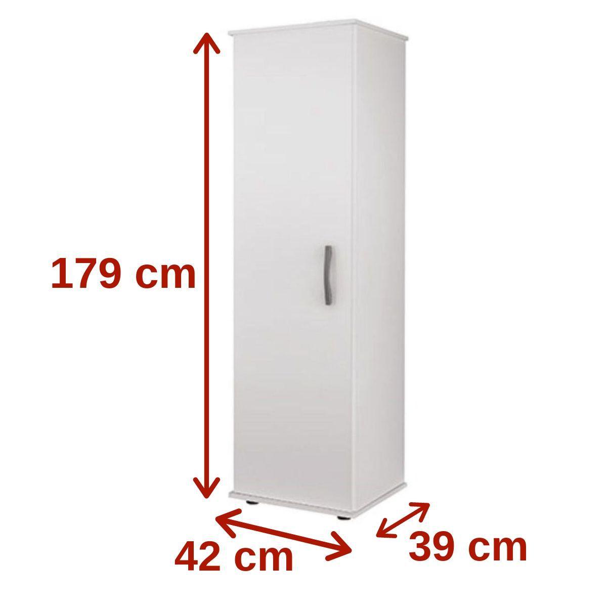 Armário Multiuso 208 Branco 1 Porta Benetil