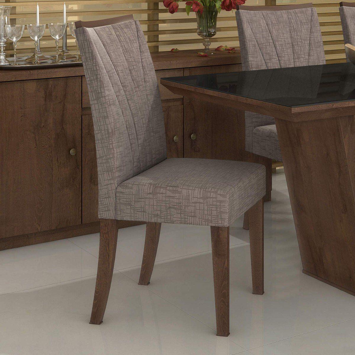 Conjunto 2 Cadeiras Apogeu Velvet Castor Lopas